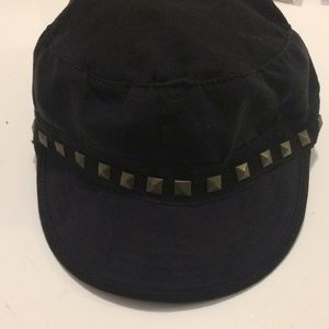 Black Hat w/Gold square embellishments